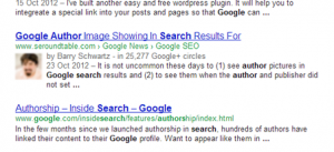 Sample of Google author profile as shown in SERP -- SEO Company Philippines