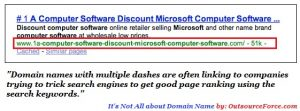 Multiple Dashed Domains -- SEO company Philippines